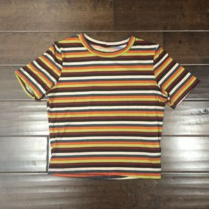 Tops - Multicolor Striped T-Shirt